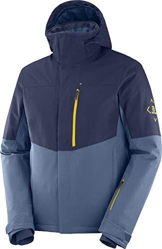 Salomon Herren Ski-Jacke, SPEED JKT M, Polyester/Elasthan/Polyamid, Blau (Dark Denim), Größe: M, LC1390400