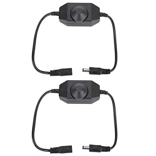 Atenuador LED, Controlador de atenuación de 2 Piezas, para la exposición del Hotel de la Sala de Estar del Dormitorio(Black)