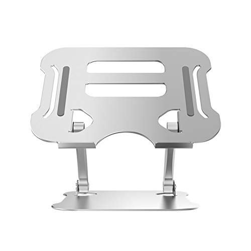 CALIDAKA Laptop Stand Adjustable Height, Laptop Holder,Ergonomic Aluminum Laptop Computer Stand, Multi Angle Stand Non-Slip with Heat Vent to Elevate Laptop,Compatible with 10-17.3inch