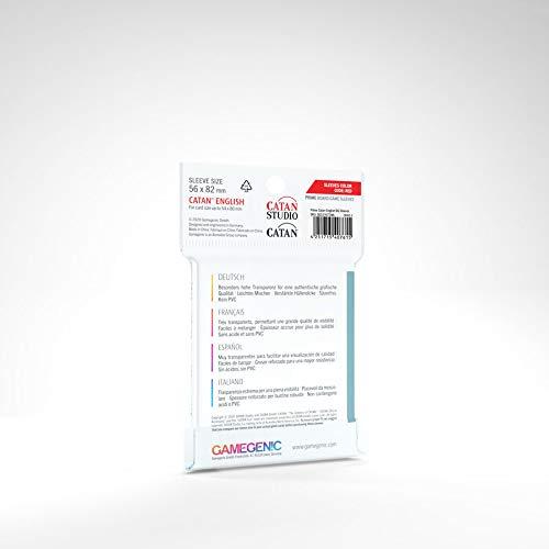 GAMEGEN!C- Prime Catan-Sized Sleeves 56x82mm (50), Color Clear (GGS10072ML): Amazon.es: Juguetes y juegos