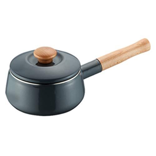 Pot Pot À Lait Épais Poignée Simple Pot Pot À Soupe Pot De Nouilles Pot De Petit Déjeuner Pot Mini Pot Cuiseur Cadeau Universel (Color : Gray, Size : 14 * 14 * 11cm)