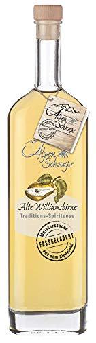 Alpenschnaps |Fasslagerung | 1 x 500ml | Williamsbirne | pures Alpenglück im Glas