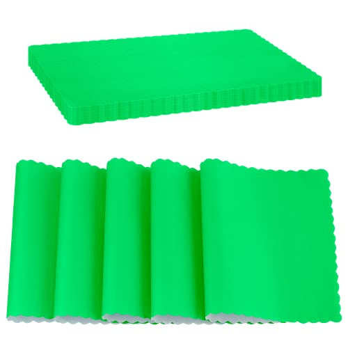 SparkSettings Disposable Paper Placemat for Dining Table Easy to Clean Made of Paper Great for Various Party, Events, Festivals or Occasions, 9.75 X 14 - Kiwi (50/Pack)
