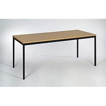 Modulor Tisch M1 mit grauem Tischgestell M und geperlter