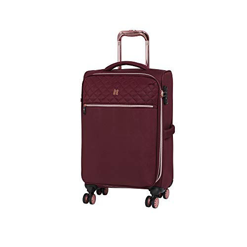 it luggage Divinity 8 Wheel Lightweight Semi Expander Cabin With Tsa Lock Suitcase, 47 L, Zinfandel