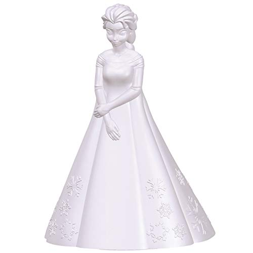 Lexibook- Veilleuse Couleur Elsa La Reine des Neiges-Décoration Lumineuse Multicolore Chambre Enfants Disney Frozen avec Timer, NLJ110FZ