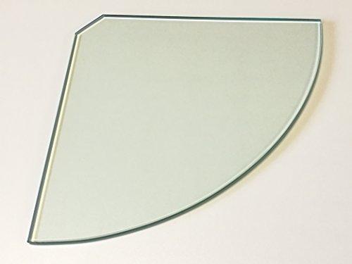 Glasboden Glasscheibe 8 mm stark, Ecke Viertelkreis, Glas klar, 35 cm Schenkellänge - 1 Scheibe