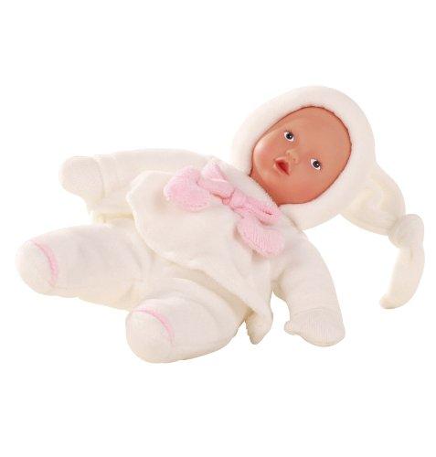 Götz 1388007 Baby Pure Babypuppe, 22 cm, Erstlingspuppe, mit Stoffen aus kontrolliert biologischem Anbau, geeignet ab 0 Monaten