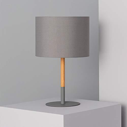 LEDKIA LIGHTING Lampada da Tavolo Silinda Grigio