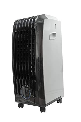 MPM MKL-01 Aire acondicionado portatil, 60 W, 8 litros, 44 Decibelios, Polímero libre de BPA, Blanco Y Negro