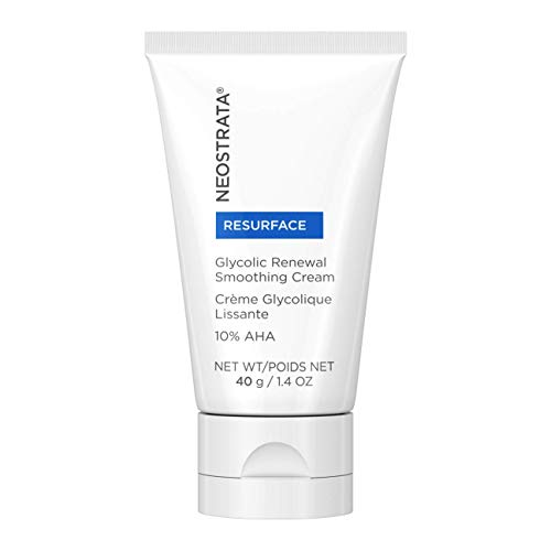 NEOSTRATA RESURFACE Glycolic Acid Renewal Smoothing Face Moisturizer & Neck Cream - 10% Alpha Hydroxy Acid (AHA), Shea Butter, Citric Acid, Glycerin; Anti-Aging, Anti-Wrinkle; 1.4 ounce