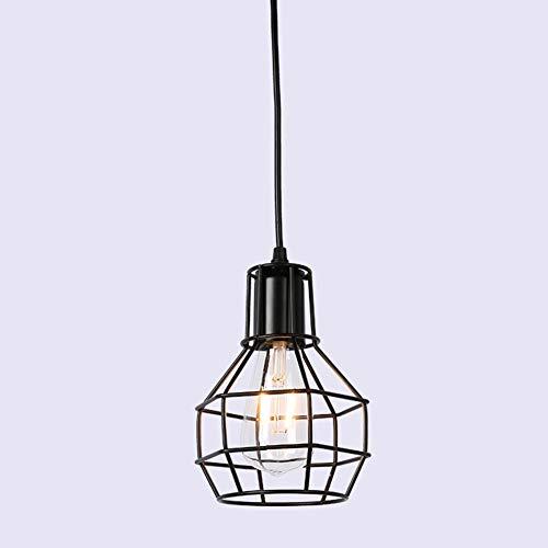 YANGSANJIN Contemporánea Pantalla para lámpara de Techo - Cesta de Acabado Vintage de Estilo Nueva York Lámparas de araña Pasillo Sala de Estar lámpara Dormitorio Cocina