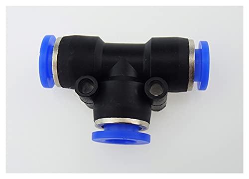 Accesorios de empuje a conectar 10 unids PE12 12 mm a 12 mm One Neumatic One Touch T Conector Accesorios rápidos Conector rápido, equipo automático. (Size : PE12)