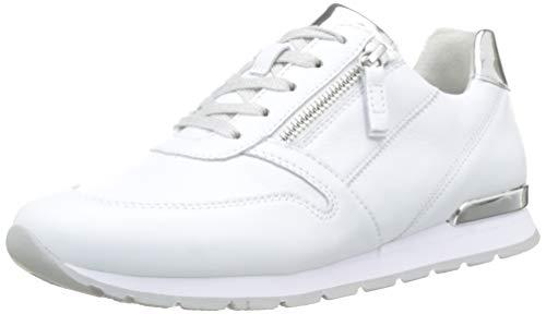 Gabor Shoes Damen Comfort Basic Sneaker, Weiß (Weiss/Silber(Ring) 50), 39 EU