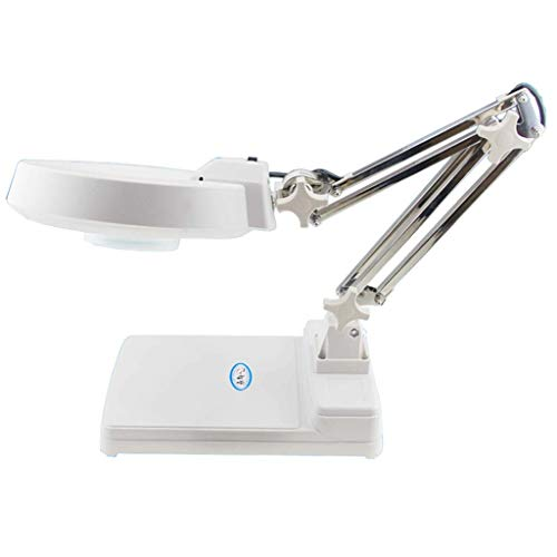 LHQ-HQ Cristal de Escritorio - Lámpara de Mesa con luz LED Plegable electrónica de Alta definición Antiguo Reloj de Lectura del teléfono móvil Mano-Tallado de Soldadura Inspección de zurcido Lupa
