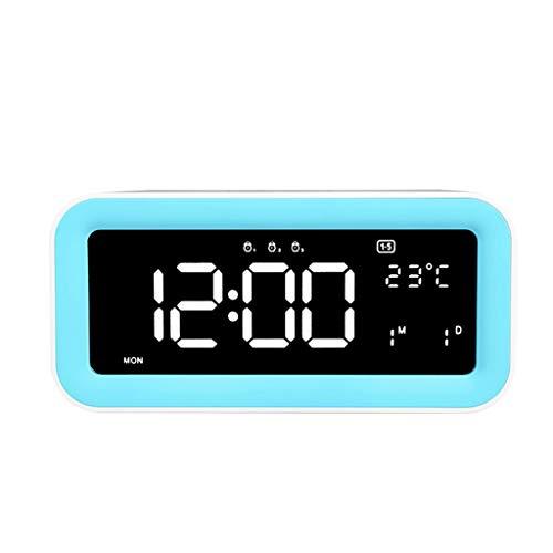 Wecker USB-Ladegerät Snooze Dimmbar Nachtlicht Touch Sensing Hintergrundbeleuchtung 3 Alarmtemperatur Home Schlafzimmer Nacht Student Hauptschlafzimmer am Bett ( Color : A , Size : 19cm*5.3cm*9.1cm )
