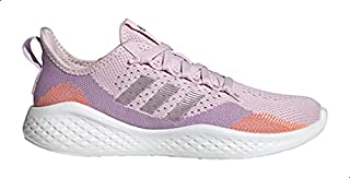 Adidas Fluidflow 2.0 Mesh Pull-Tab Side-Stripe Patterned Lace-Up Running Sneakers for Women