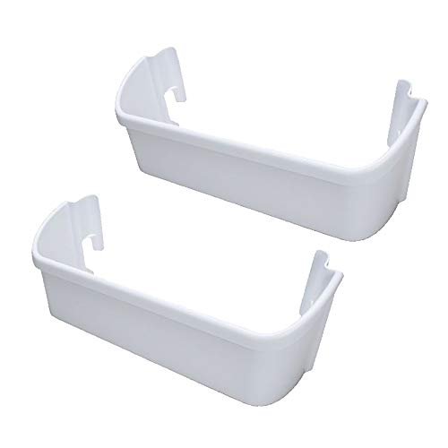 KITCHEN BASICS 101: 2 Pack ER240323001 Replacement Refrigerator Door Bin for Electrolux, White