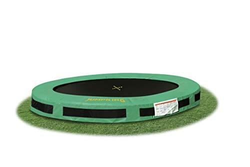 trampoline 2InGround Classic,44 meter black/green