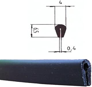 2290 /5,5/mm color negro eutras Protector de bordes Capacidad FP3002/Protector de cantos Perfil de junta de goma spalt m/étrica 1,5/ Negro