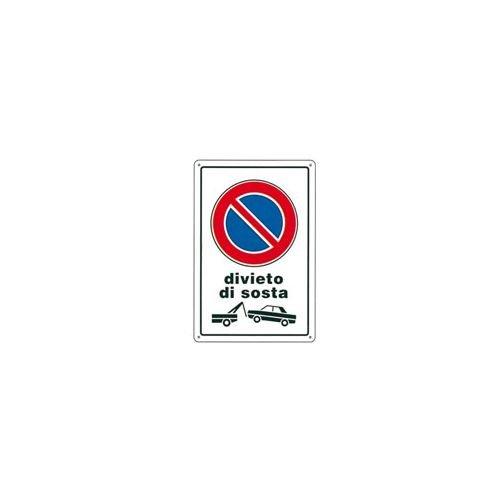 CARTELLO DIVIETO DI SOSTA R.F. 20x 30 PLASTICA [TARGOTIMBRI ]