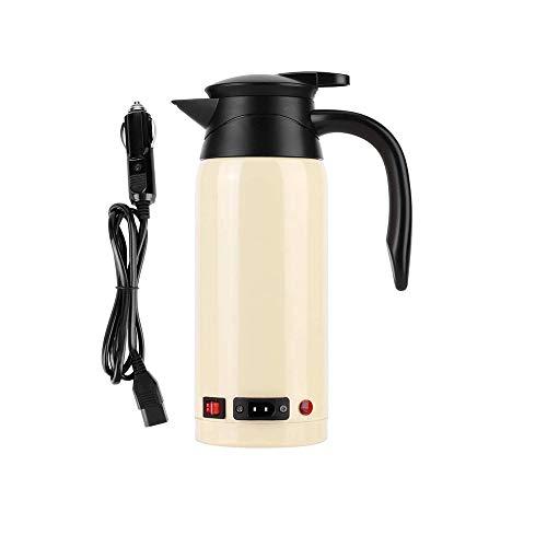 SHYOD Hervidor eléctrico de 800 ml, portátil, coche, camión, calentamiento rápido, tetera hirviendo, café, té, agua caliente