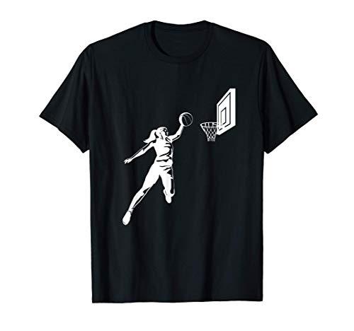 Silueta de Baloncesto Dunking Girls Camiseta