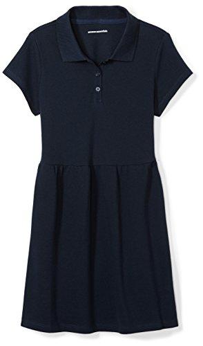 Amazon Essentials Girl's Short-Sleeve Polo Dress, Navy, 4T