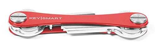 KeySmart - der kompakte Schüsselhalter und Anhänger-Organizer (bis zu 8 Schlüssel, Rot)