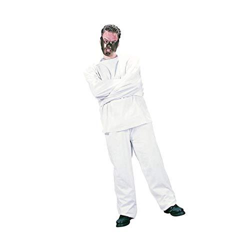 Nerd Clear Hannibal Lecter Psycho Kostüm für Männer & Frauen   2-teilig: Zwangsjacke & Maske   Einheitsgröße