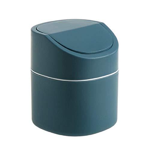 SKKGR Niedlicher Mini-Mülleimer Klein Abfallbehälter Mini Desktop Mülleimer Büro Papierkorb Schlafsaal Schlafzimmer Nachtbett Pop-up Lagerplatz blau