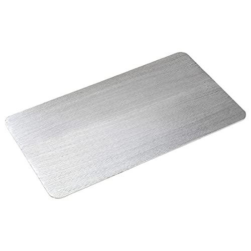 NKlaus Plato para Velas Aluminio Plata 30x16cm portavelas Posavasos decoración de Mesa Cepillado - Diseño 10434