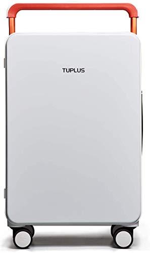 TUPLUS Rollkoffer Trolley Reisekoffer Koffer Hartschalenkoffer aus ABS, 4-Rollen 360 Grad, 64 L, 71 cm hoch, Weiß