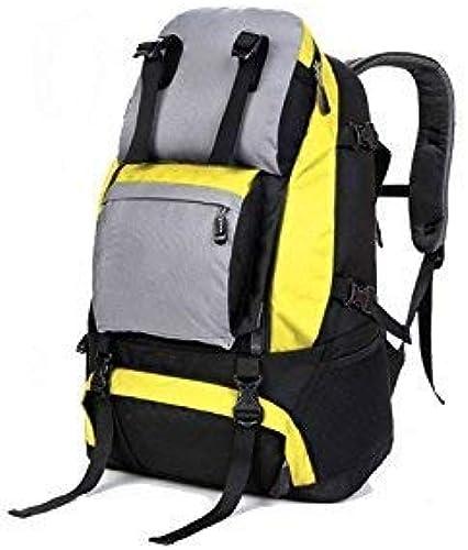 Mode-Unisex-Reiserucksack, Outdoor- und Indoor-Multifunktions-Umh etasche mit Größem Fassungsverm n für Wanderer zum Klettern (fluoreszierend gelb)