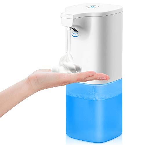 Seifenspender Automatisch Elektrischer 350ml- automatischer Schäumende Seifenspender Set mit Sensor Infrarot, Berührungslos Schaumseifenspender für Bad & Küche