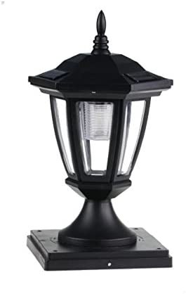2-Pk Solar Hexagon Light w Fence univers Post Cap x Branded goods Challenge the lowest price 6inch