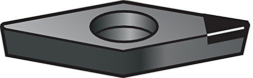 "Sandvik Coromant CoroTurn 107 CBN Turning Insert, VBMW, 35 Degree Diamond, CB20 Grade, Uncoated, VBMW 332S0320E, 3/8"" iC, 0.0315"" Corner Radius (Pack of 1)"