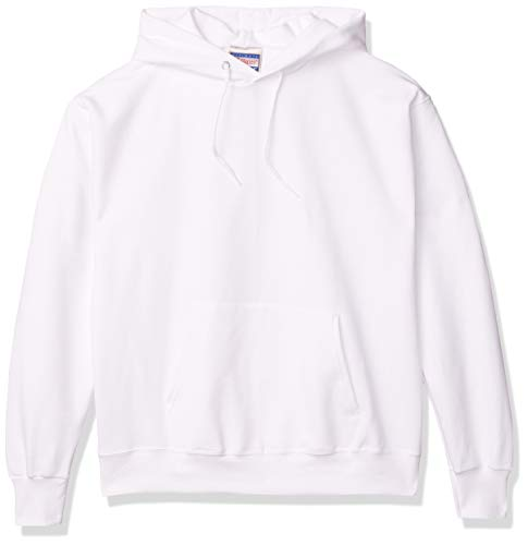 Hanes Men's Pullover Ultimate Heavyweight Fleece Hoodie, White, X Large