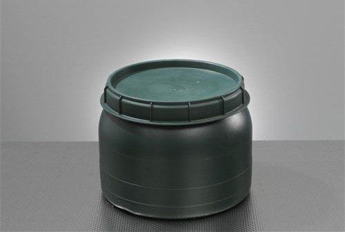 BAUPROFI Weithals-Fass grün 25 Liter mit Deckel Nässe-Schutz Transport-Faß Fische Camping