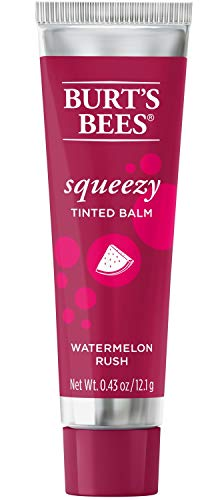 Burts Bees, Squeezy Tinted Lip Balm - Watermelon Rush, 0.43 Ounce