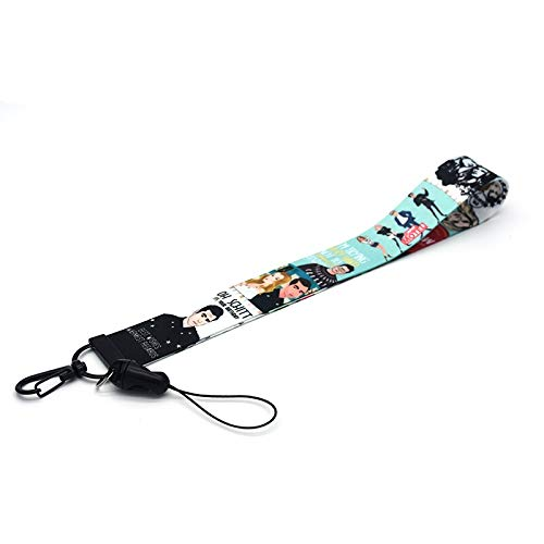RedDoor_Hill TV Show Schitt's Creek Lanyard for Phones Watercolor Printing Lanyards Phone Case Lanyard for Keys Neck Straps Badge Holder A206