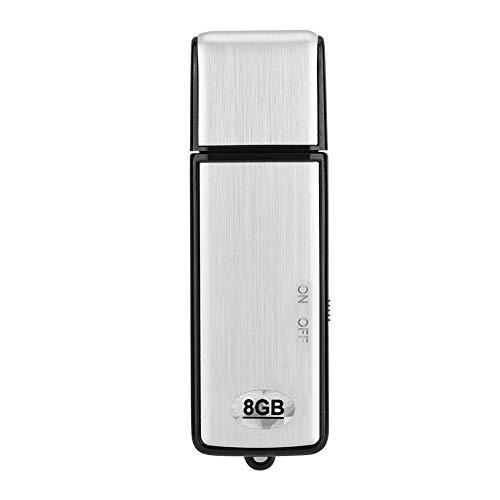 Zerone Mini Registratore Vocale USB, 20 Ore di Durata della Batteria 8 GB di Riduzione del Rumore Professionale Registratore Audio Stereo Registratore Vocale Dittafono