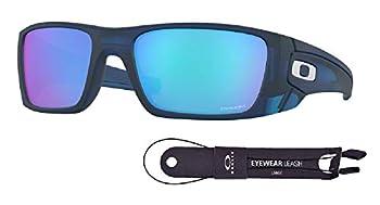 Oakley Fuel Cell OO9096 9096K1 60M Matte Translucent Blue/Prizm Sapphire Sunglasses For Men+BUNDLE with Oakley Accessory Leash Kit