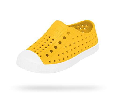 Native Shoes, Jefferson Child, Kids Lightweight Sneaker, Crayon Yellow/Shell White, 13 M US Little Kid