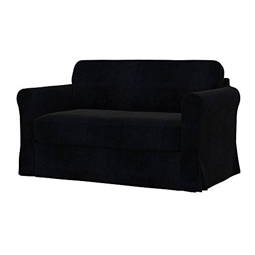 Soferia - Bezug fur IKEA HAGALUND Bettsofa, Eco Leather Black