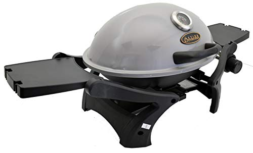 ACTIVA Grill Tischgasgrill Tischgrill Gas Crosby, Camping Grill, 3,4 KW Brenner, Outdoor Tischgrill Grau - 4