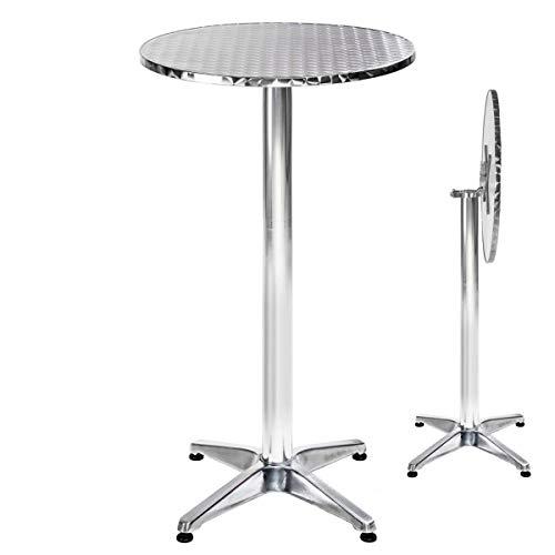 TecTake Aluminium Bistrotisch rund höhenverstellbar - Diverse Modelle - (Alexander | Nr. 401491)