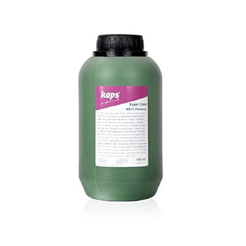 Lederfarbe für Naturleder, Sythetik und Textil. Entwickelt Super Color Kaps 500ml, Grün 113
