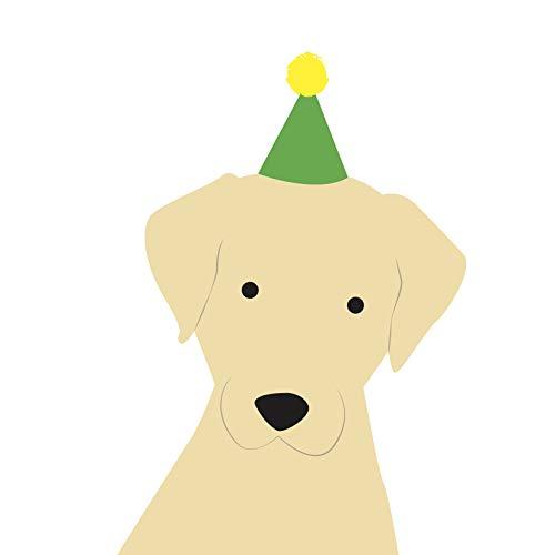 Labrador (goud) Verjaardagskaart door Heather Alstead