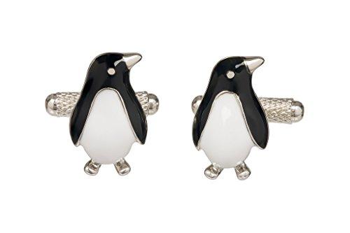 Pinguin-Manschettenknöpfe in Onyx-Kunst in Geschenkbox